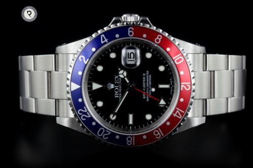 ROLEX GMT II 16710 <font color =#fA8E00>réservé