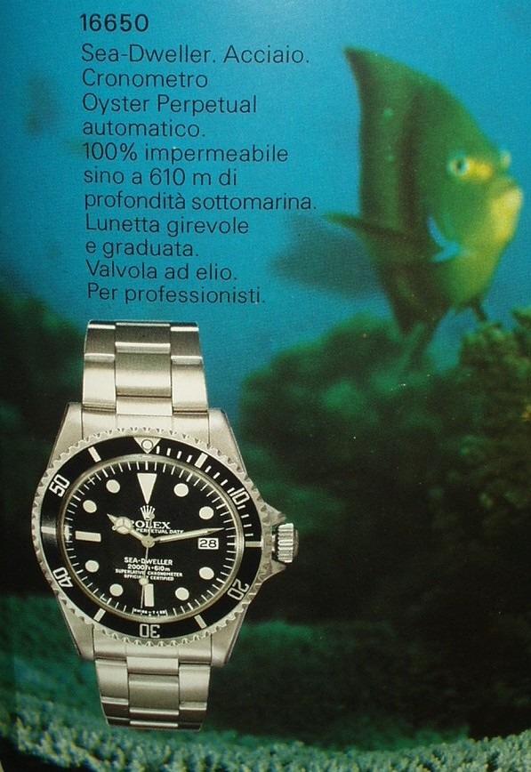 ROLEX SEA DWELLER 1665, L'EVOLUTION (PART III)