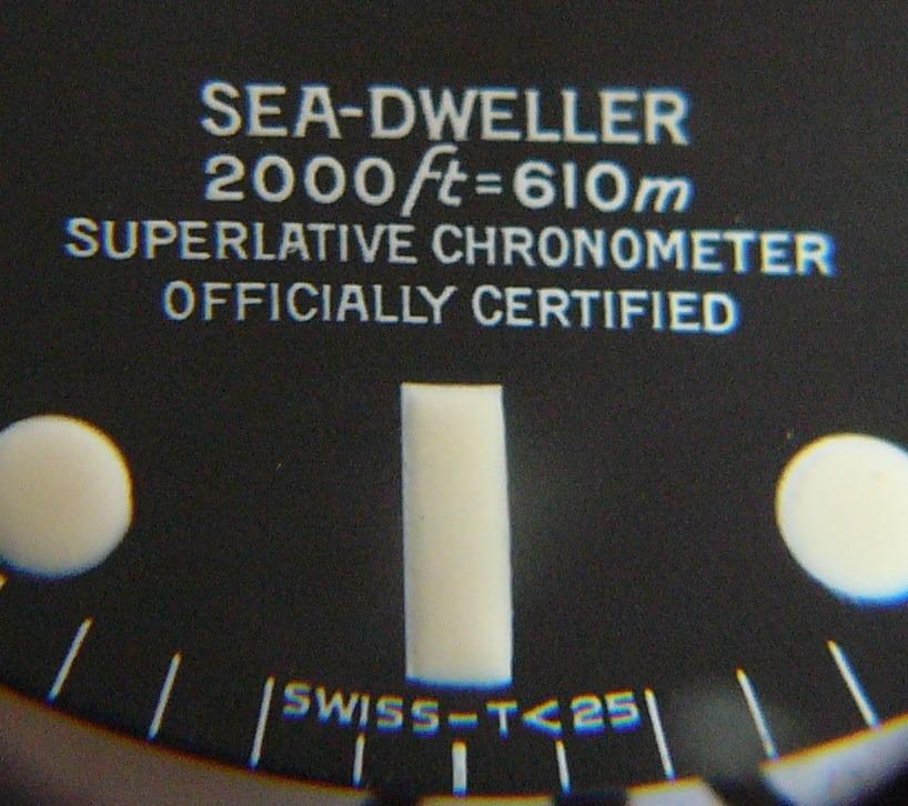 ROLEX SEA DWELLER 1665, L'EVOLUTION (PART IV)