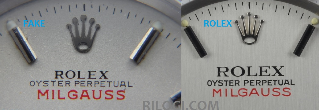 Comparatif Milgauss 1019 Fake - Original
